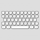 pic of qwerty  - Keyboard keys - JPG