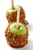 stock photo of toffee  - caramel apple - JPG