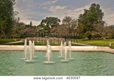 Fountains At Los Angeles County Arboretum