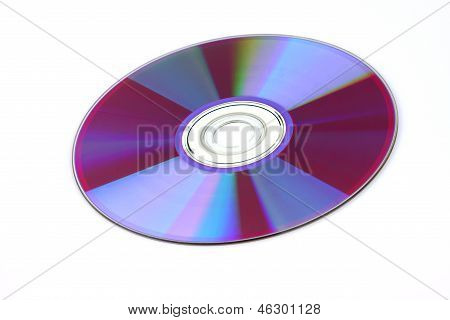 Cd, Dvd Disc Isolated On The White Background