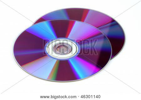 Cd DVD Isolated On White Background