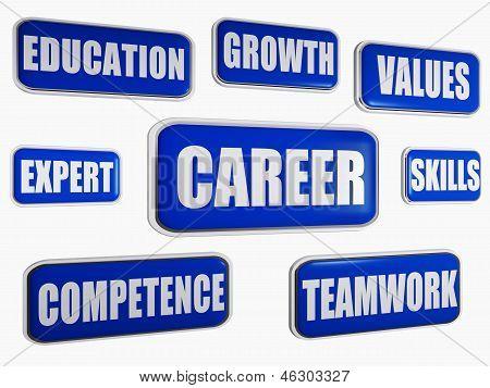career - blue business concept