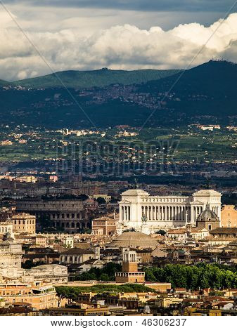 Aerial view of Rome, Italy.