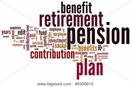 Pension And Retirement Tag Cloud