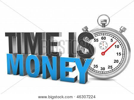 Time Is Money Stopwatch
