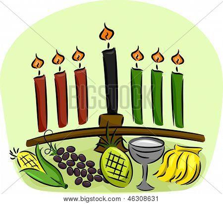 Illustration of Kwanzaa Symbols