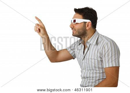 Boy With 3D Glasses