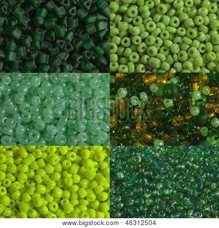 Green Beads Macro