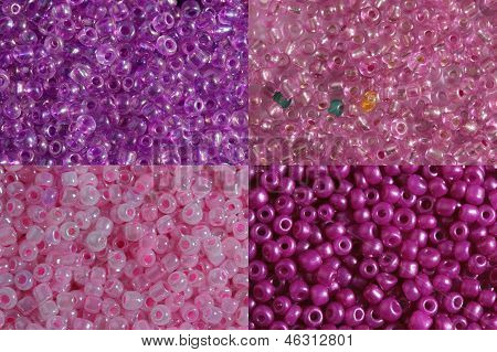 Sets Of Pink Beads