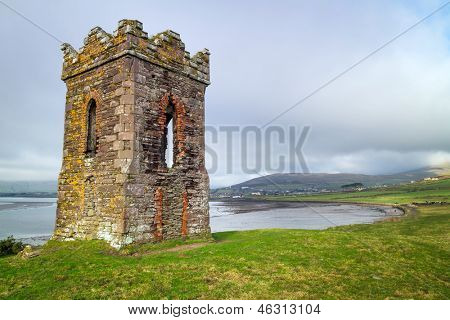 Irish watch tower over Dingle Bay - Co. Kerry