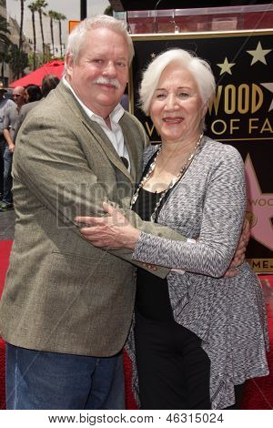 LOS ANGELES - MAY 24:  Armistead Maupin, Olympia Dukakis at the ceremony for Olympia Dukakis with a Star on the Hollywood Walk of Fame at the Hollywood Walk of Fame on May 24, 2013 in Los Angeles, CA
