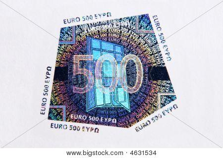 500 Euro Hologram Macro