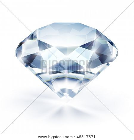 Diamond isolated on white - eps10