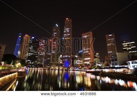 Singapore - City Center, Night View