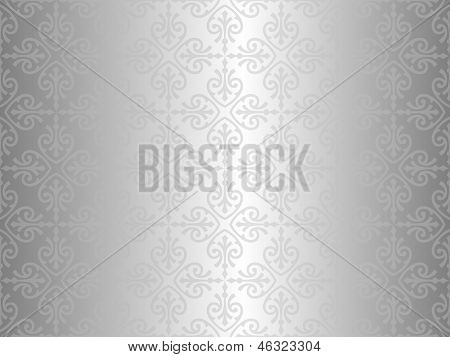 Pale Silver Vintage Wallpaper Design