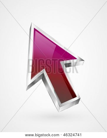 Vector flying abstract arrow icon