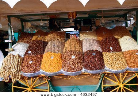 Dried Fruit Market In Marrakesh