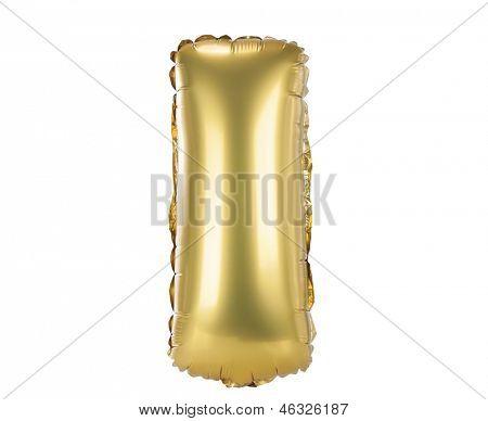 Gold balloon font part of full set upper case letters, I