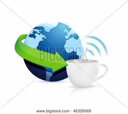 Internet Hotspots Coffee Mug Concept