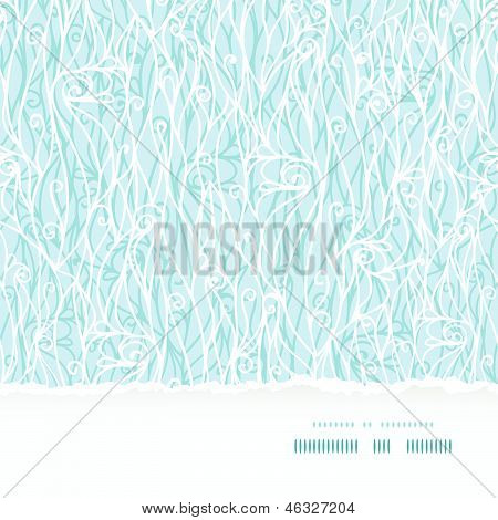 Abstract frost swirls texture horizontal torn seamless background
