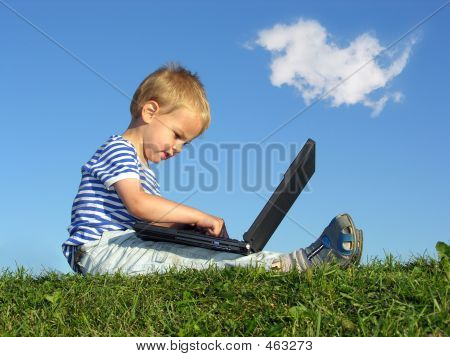 Child With Notebook