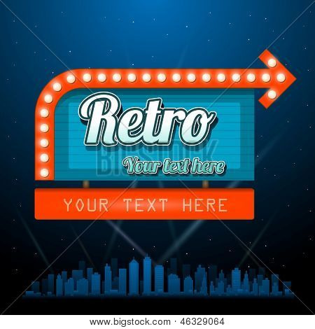 Retro vintage sign with copyspace
