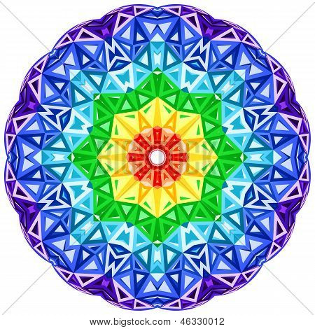 Rainbow kaleidoscope vector vibrant circle