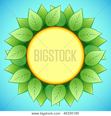 Abstract Eco Background With Stylish Sunflower