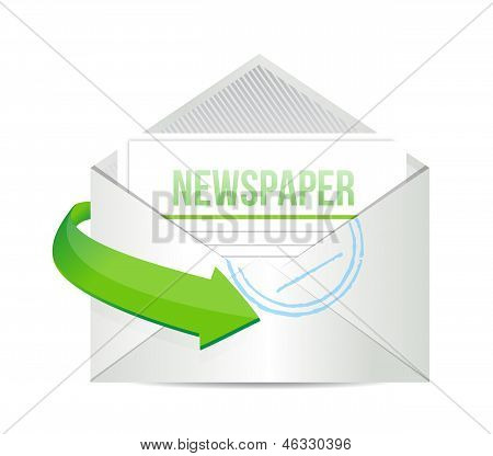 Newspaper Email Information Concept