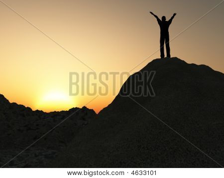 Man On Mountain