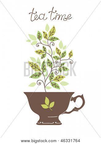 fundo de chá