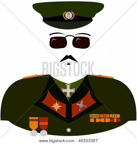 Cartoon Militarist Uniform