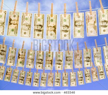 Money On Clothes Line Sky 3