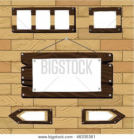 Rustic Wood Frame Vector Rustic Wooden Frames Vector