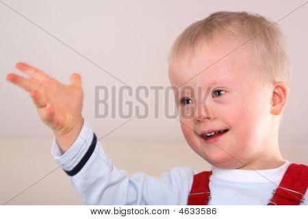 Happy Handicapped Boy