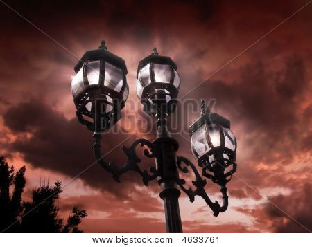 Antique Lamp Post