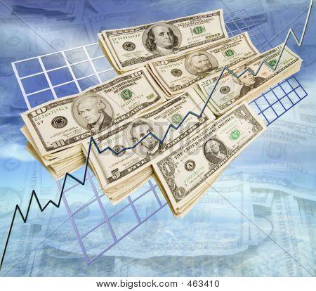 Money On Graph Sky Money Background