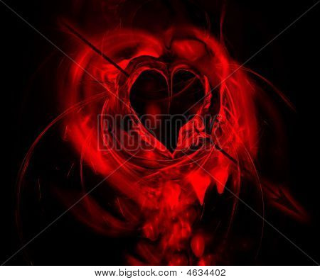 Bleeding Heart Hit By An Arrow