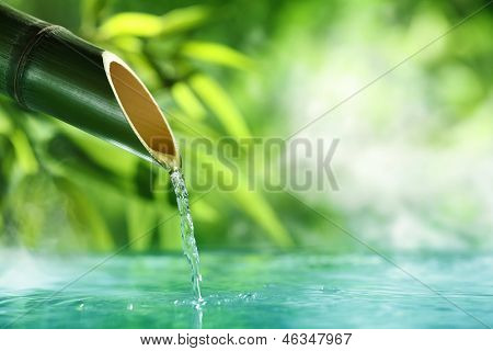 Traditional Bamboo Fountain,SPA concept.