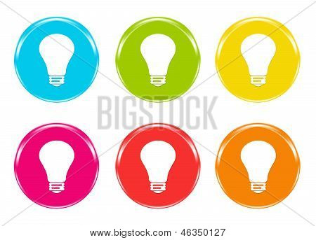 Icons with light bulb symbol