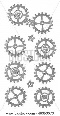 Cogwheels - Set - Isolated