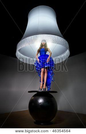 Luxury woman - standard lamp