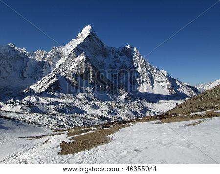 Ama Dablam And Glacier, Chhukhung