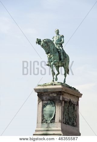 Luxembourg.  Monument To King Guillaume The Second.