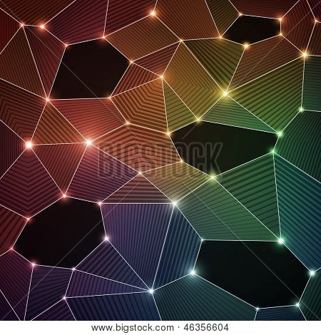 Shiny colorful background with bubbles for Your text