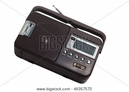 radio fm portable transistor old tuner set isolated fashione