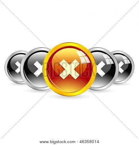 Rejected vector buttons.