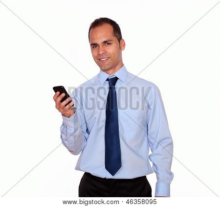 Adult Man Looking At You Calling On Cellphone