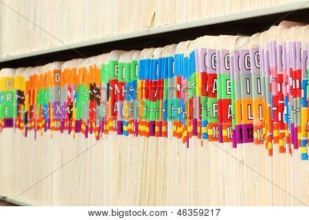 Folders in a row