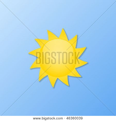 Weather Icons. Sunny Weather. Vector Illustration